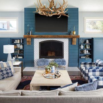 Rustic Modern Family Room