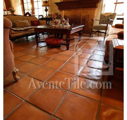 Mediterranean Family Room by Avente Tile