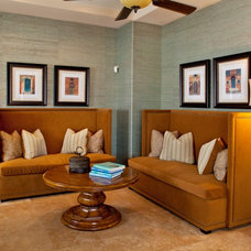 Contemporary Family Room by P. Scinta Designs, LLC