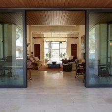Contemporary Family Room by Decorum Stone