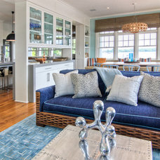 Beach Style Family Room by Mitchell Wilk Architecture