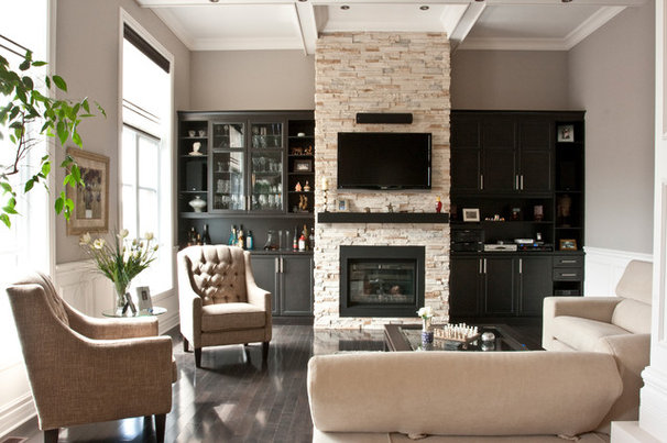 Contemporary Family Room by Audacia Design Downsview Kitchens