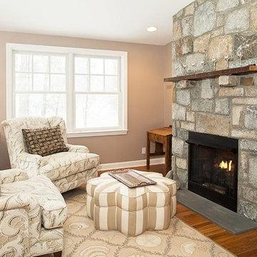 Salem Natural Thin Stone Veneer Fireplace