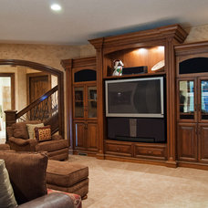 Traditional Family Room by Markay Johnson Construction