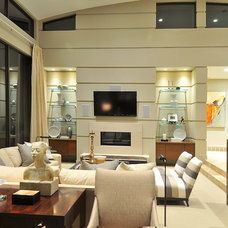 Modern Family Room by CD Construction, Inc.