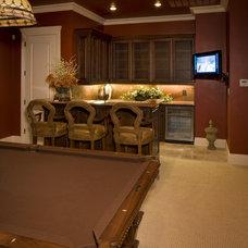 Traditional Family Room by Sam Allen Custom Home Design