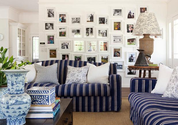 Traditional Family Room by Black & Spiro Interior Design