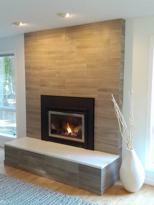 Limestone Tile Fireplace Ideas Pictures Remodel And Decor
