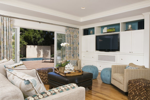Traditional Family Room by Amoroso Design