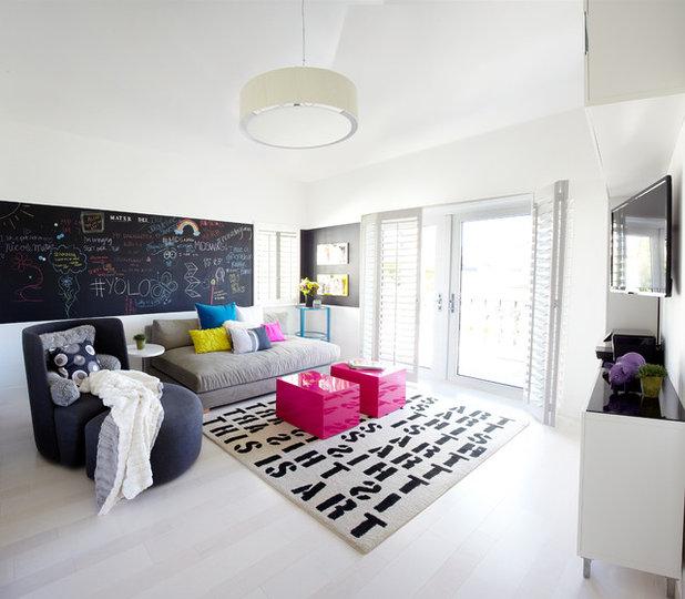 Contemporary Family Room by Dupuis-Design