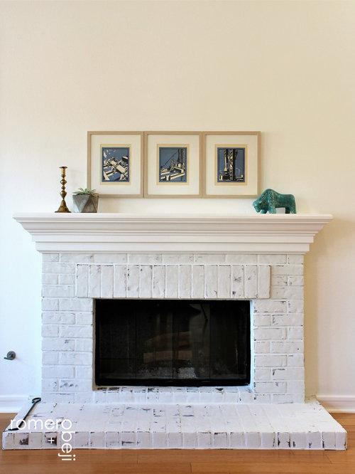 photos et id es d co de pi ces vivre scandinaves avec un sol en brique. Black Bedroom Furniture Sets. Home Design Ideas