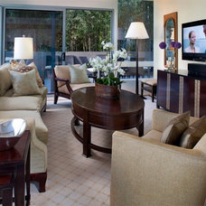 Eclectic Family Room by Henderson Design Group