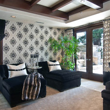 Contemporary Family Room by Orange Coast Interior Design