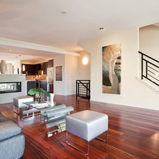 Contemporary Family Room by Synergistic Development