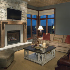 Traditional Family Room by Curt Hofer & Associates