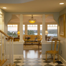 Beach Style Family Room by Polhemus Savery DaSilva