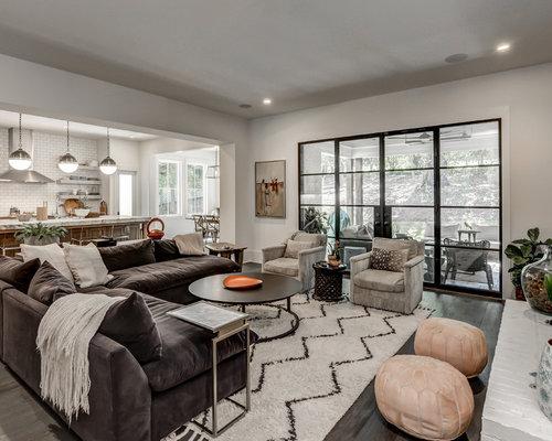 dark wood floor family room. Example Of A Transitional Dark Wood Floor And Brown Family Room Design In  Atlanta With 97 Modern Idea