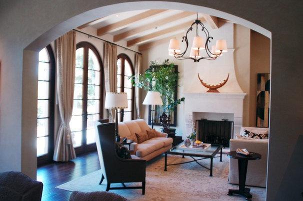 Mediterranean Family Room by William MastonArchitect & Associates