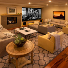 Contemporary Family Room by Madison Interiors