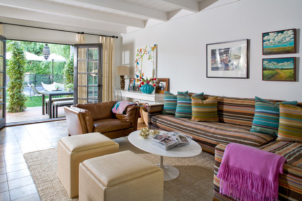 Contemporary Family Room by Daleet Spector Design