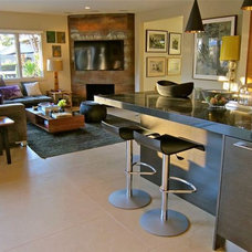 Contemporary Family Room by Natalie Epstein Design