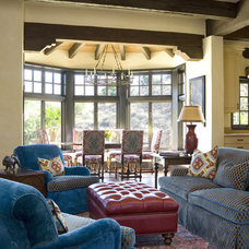 Mediterranean Family Room by Allen Construction