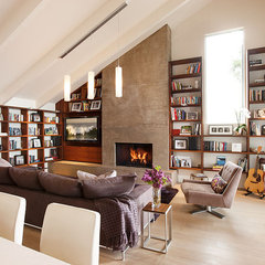 modern family room by Lori Smyth Design