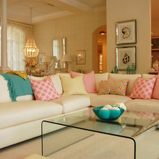 contemporary family room by Angela Ruple Interior Design