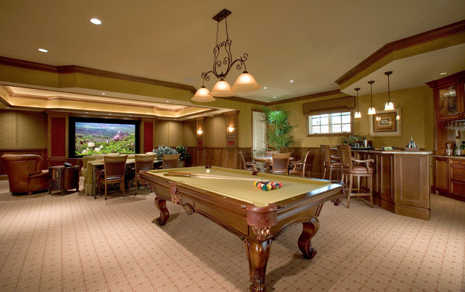 Traditional Family Room by Sater Design Collection, Inc.