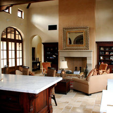 Mediterranean Family Room by Francis Garcia Architect