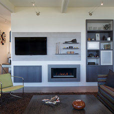 Contemporary Family Room by Christopher Hoover - Environmental Design Services