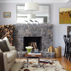 Traditional Family Room by Urrutia Design