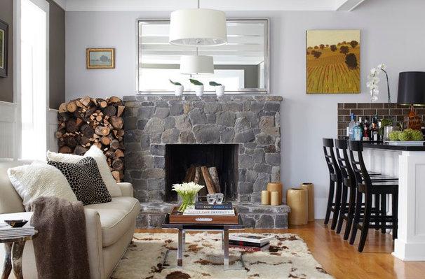 Traditional Family Room by Urrutia Design