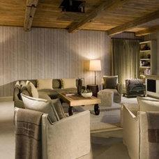 Contemporary Family Room by Coburn Development