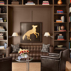 Contemporary Family Room by Mark Ashby Design
