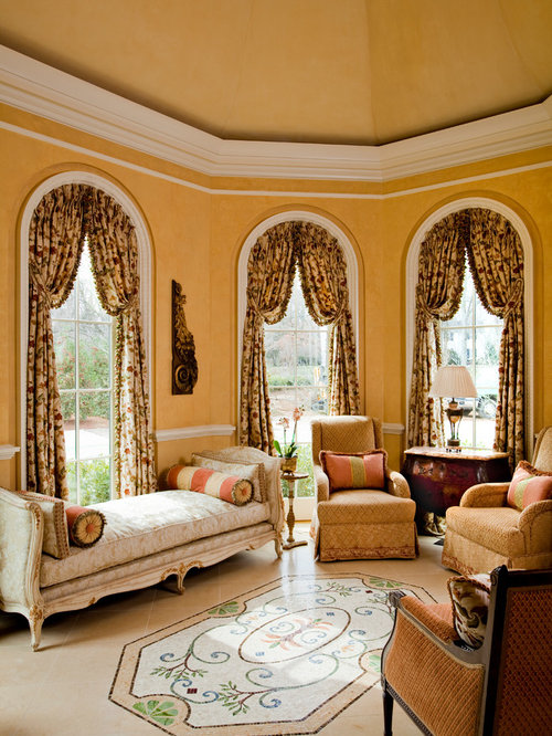 Inspiration for a victorian family room remodel in Nashville with yellow  walls. Best 25 Family Room Ideas   Designs   Houzz