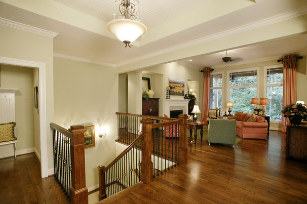 Traditional Family Room by The Schnicke Company