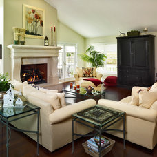 Traditional Family Room by KGA Studio Architects