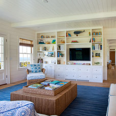 Beach Style Family Room by Jonathan Raith Inc.