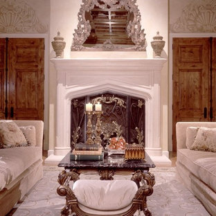 Inspiration for a mediterranean family room remodel in Phoenix