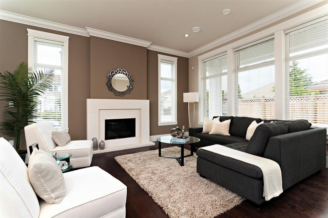 Contemporary Family Room by Positive Space Staging and Design Inc.