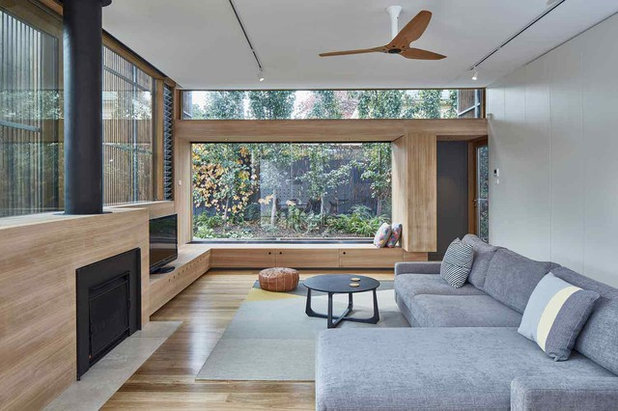 Contemporary Family Room by Warc Studio Architects