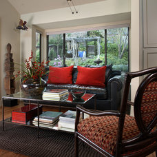 Asian Family Room by Culbertson Durst Interiors