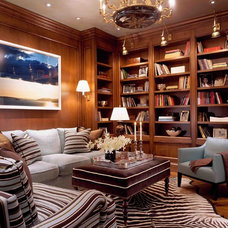 Traditional Family Room by Kendall Wilkinson Design