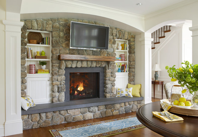 Traditional Family Room by Oak Hill Architects