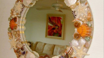 Seashell Mirror for Boca Grande, Florida client