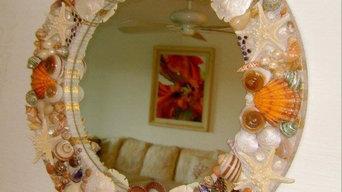 Seashell Mirror for Boca Grande, Florida client