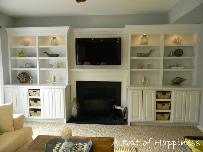 Beach Style Family Room by Seaside Interiors LLC