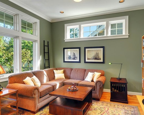 Sage green walls home design ideas pictures remodel and decor - Airy brown and cream living room designs inspired from outdoor colors ...