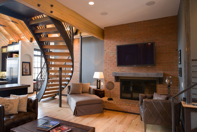 Contemporary Family Room by The Stratford Companies